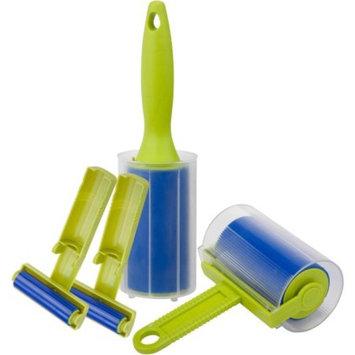 Honey Can Do Reusable Sticky Lint Roller Brush Kit, Blue/Green (Set of 4)