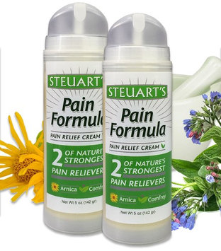 Steuart's Natural Health 2 Pack of Steuart's Pain Relief Cream 5 oz. No Residue or Odor Amazing Product