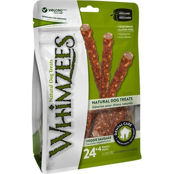 Whimzees Small Veggie Sausage Dog Treats, 28-count