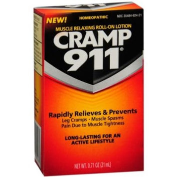 Cramp 911 Muscle Relaxing Roll-on Lotion, 0.71 oz (21 ml), Pack of 2