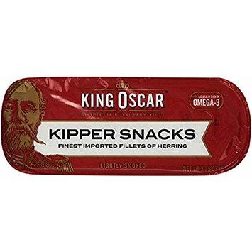 King Oscar Kipper Snacks Finest Imported Fillets of Herring 3.25 oz (Pack of 9)