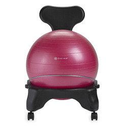 Fit For Life Gaiam Balance Ball Chair, Fuchsia