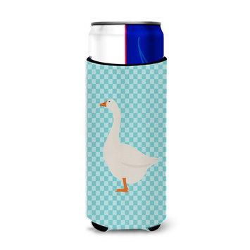 Embden Goose Blue Check Michelob Ultra Hugger for slim cans BB8066MUK