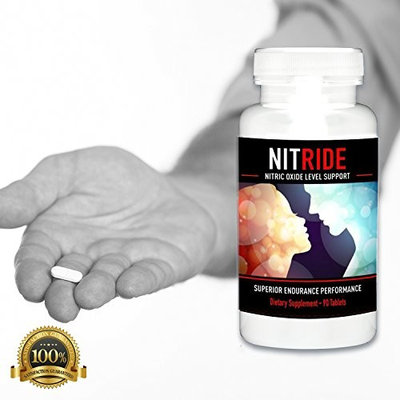 Nitride Premium Nitric Oxide Booster For Increased Blood Flow, Stamina, Stimulate Libido & Ability, Men, Push Beyond Former Limits Today (1 Bottle)