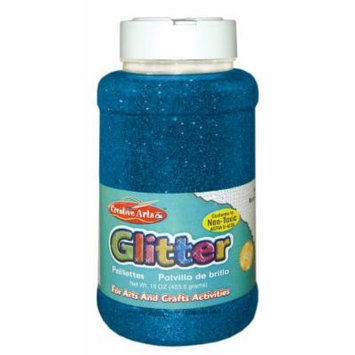 Creative Arts by Charles Leonard Glitter, 16 Ounce Bottle, Blue (41115)