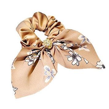 DJHbuy Women Girls Rabbit Ears Flower Hair Tie Ponytail Holder