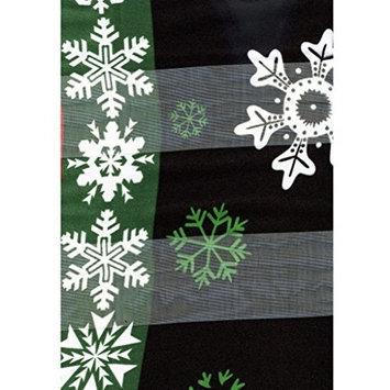 Black Christmas Block Poinsettia Ladies Scarves