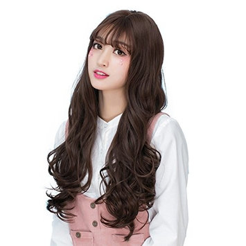 Alacos 65CM Daily Basic Curly Lolita Style Anime Cosplay Synthetic Wig for Women +Free Wig Cap
