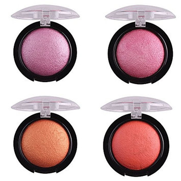 4 Color/Set Single Baked Shimmer Metallic Eyeshadow Palette Eye Shadow Powder Style A