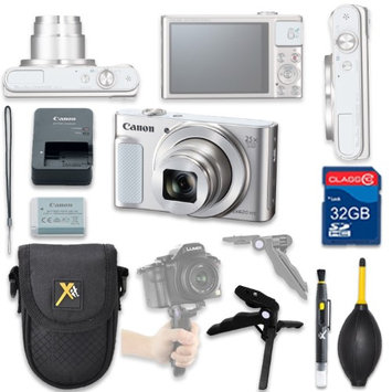 Als Variety Canon PowerShot SX620 HS Digital Camera(silver) with 32GB SD Memory Card + Accessory Bundle