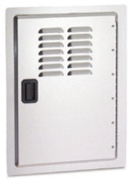 Fire Magic Legacy Single Access Stainless Steel Door w/ Louvers - Stai
