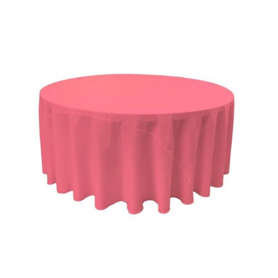 LA Linen TCpop132R-HotPinkP38 Polyester Poplin Tablecloth Hot Pink - 132 in. Round