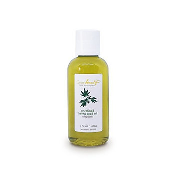 Hemp Seed Oil UNREFINED Virgin Organic Carrier Cold Pressed RAW 100% Pure 4 OZ