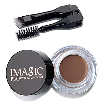 Putars Women Sexy Eyebrow Enhancers Waterproof Long Lasting EyeBrow Gel Cream Makeup with Brush Black