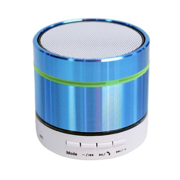 Bluetooth Speakers,AutumnFall New Super Bass Mini Portable Bluetooth Handsfree Wireless Speaker With LED Light (Blue)