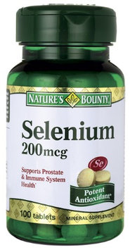 Nature's Bounty Selenium Supplement