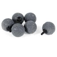 6pcs Ball Shape Gray Mineral Bubble Air Stones for Aquarium Fish Tank