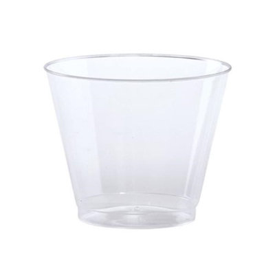 Hanna K Signature 1852787 9 oz Old Fasioned Pastic Tumblers Clear - Pack of 12