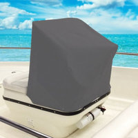 Kapscomoto Boat Center Console Cover Storage Cover- 40L x 46W x 45H - Gray Heavy Duty Water, Mildew, and UV Resistant Thick Polyester Fabric.