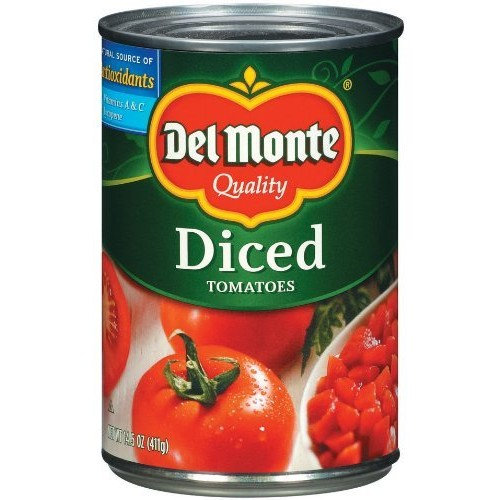 Del Monte Canned Diced Tomatoes, 14.5-Ounce (Pack of 12)