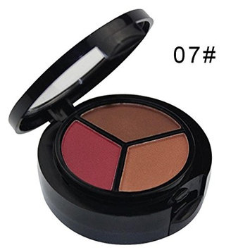 Eyeshadow Palette,Datework 3 Colors Professional Natural Matte Makeup Eye Shadow Smoky Cosmetic Set