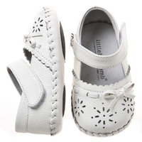Little Blue Lamb Baby Girls Infant Soft Leather Shoes White 6-12 Months