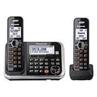 Panasonic KX-TG6842B Expandable Digital Cordls Ans Sys, 2 Hs