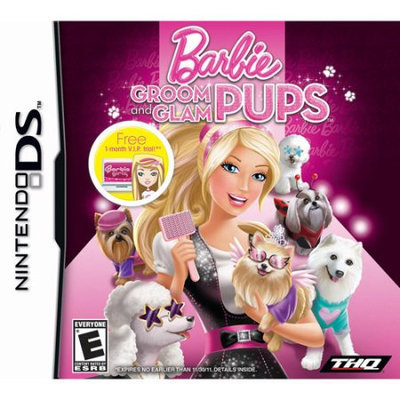 THQ Barbie Groom And Glam Pups-nla