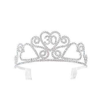 Crystal Tiara Birthday Crown 30th Birthday Gift Princess Crown Hair Accessories Silver
