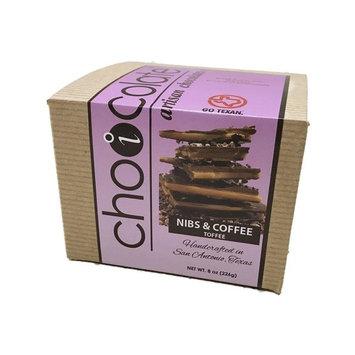 Nibs & Coffee Toffee, 8 oz, with European Dark Chocolates