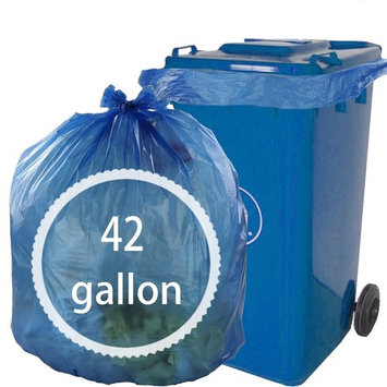 42 Gallon Large Trash Bags, Blue, 60 Count ( Hommp), F