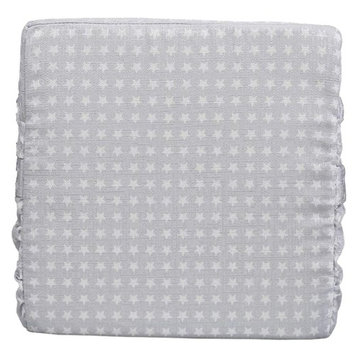 LeeKerTel Baby Toddler Kids Booster Seat Pad for Dining Chair Increasing Cushion Booster Seat Mat (silver)