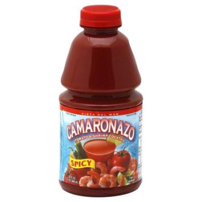 Camaronazo Vista Del Mar Spicy Tomato and Shrimp Cocktail, 32 fl oz, - Pack of 12