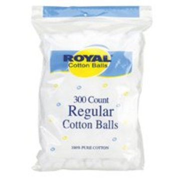 Royal Cotton Balls - 300 Count - Case of 48