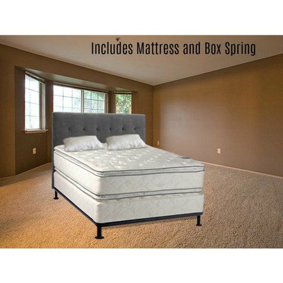 Continental Sleep, 12-Inch Medium Plush Pillowtop, Orthopedic type Doublesided Mattress and Box Spring, Twin Size
