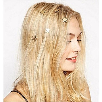 Joyci 5Pcs The New! Minimalist Hairpin Contracted Stars Spiral Clip