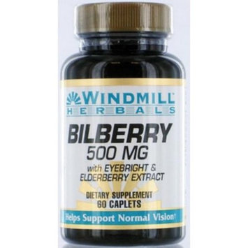 Windmill Bilberry 500 Mg Capsules 60 ea (Pack of 4)