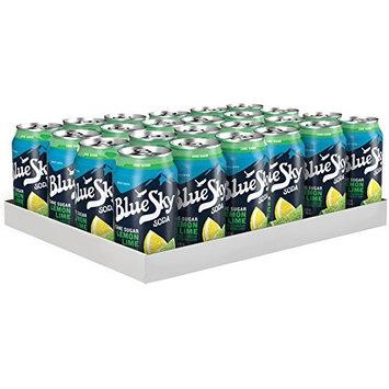 Blue Sky Cane Sugar Soda, Lemon Lime, 12 Ounce (Pack of 24)