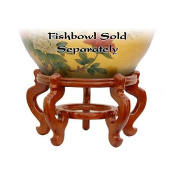 Rosewood Fishbowl Stand in Honey Finish (8.5 in. Dia.)