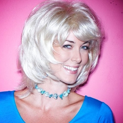Blonde Du Wig - High Quality Kanekalon Synthetic Wigs for Women, Short Style, Like Human Hair, Hair Loss Replacement
