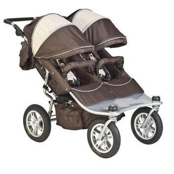 Valco Baby Tri-mode Twin Stroller EX- Hot Chocolate