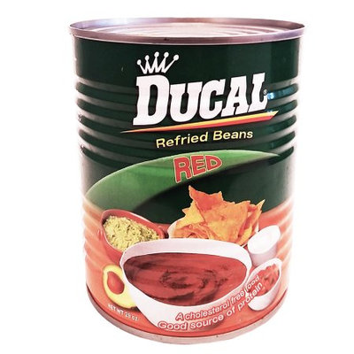 Ducal Refried Red Beans 29 oz - Frijoles Rojos Refritos (Pack of 12)