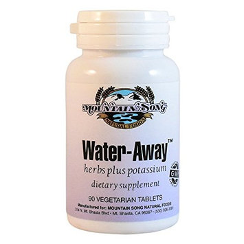 Water Away Herbal Diuretic Water Pills. Natural Support to Reduce Bloating