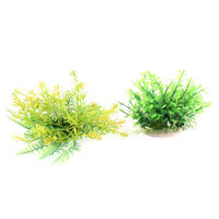 Aquarium Plastic Artificial Water Grass Plant Decor Green 2 in 1
