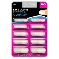 LA Colors Nail Tips, French Overlap, 80 Ct