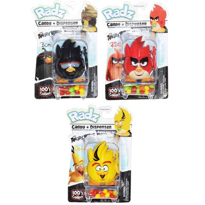 Radz Angry Birds Candy and Dispensers (Pack of 3)