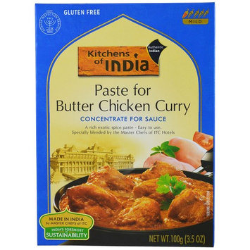 Kitchens of India, Paste for Butter Chicken Curry, Concentrate for Sauce, Mild, 3.5 oz(pack of 2)