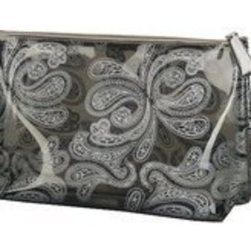 Silver Paisley Cosmetic Case