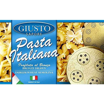 Giusto Sapore Italian Pasta - Vesuviotti 500g - Premium Bronze Drawn Durum Wheat Semolina Gourmet Pasta Brand - Imported from Italy and Family Owned [Vesuviotti]