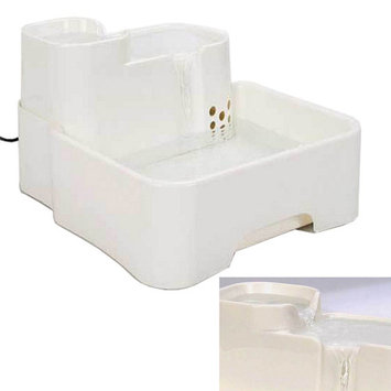 Ktaxon PW-06 Automatic Pet Fountain Watering Drink Bowl Dog Cat Water Dispenser White